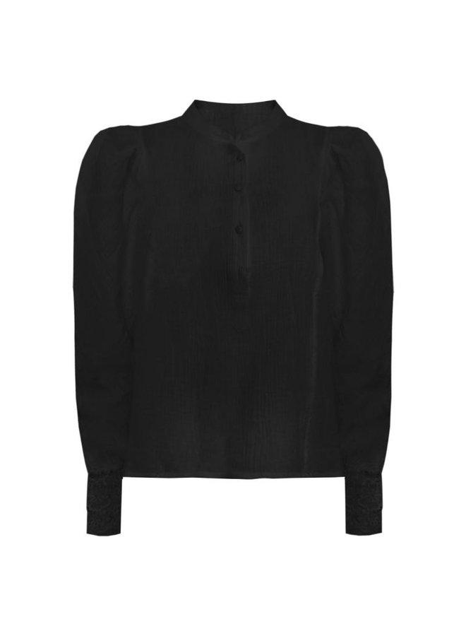Boho lace top-zwart