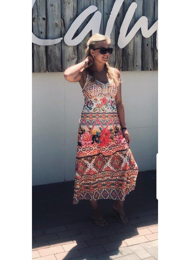 Ibiza flower maxi dress-multi