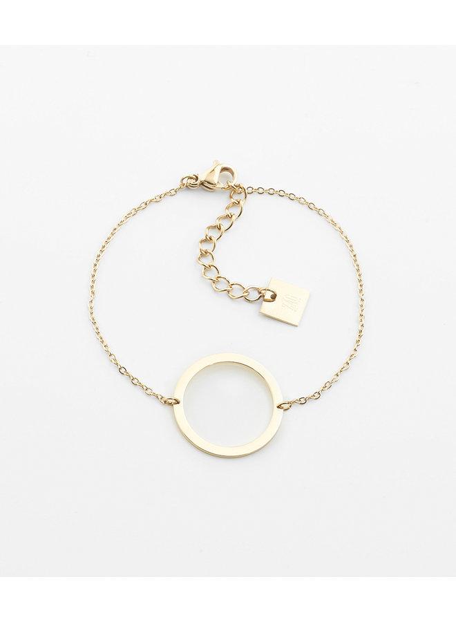 ZAG armband gold circle of live