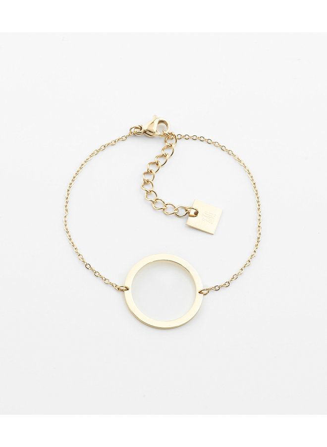 ZAG armband goud  circle of live