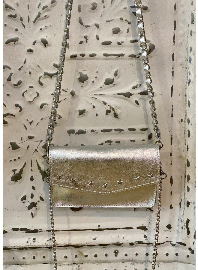 Metallic shoulder bag- silver star