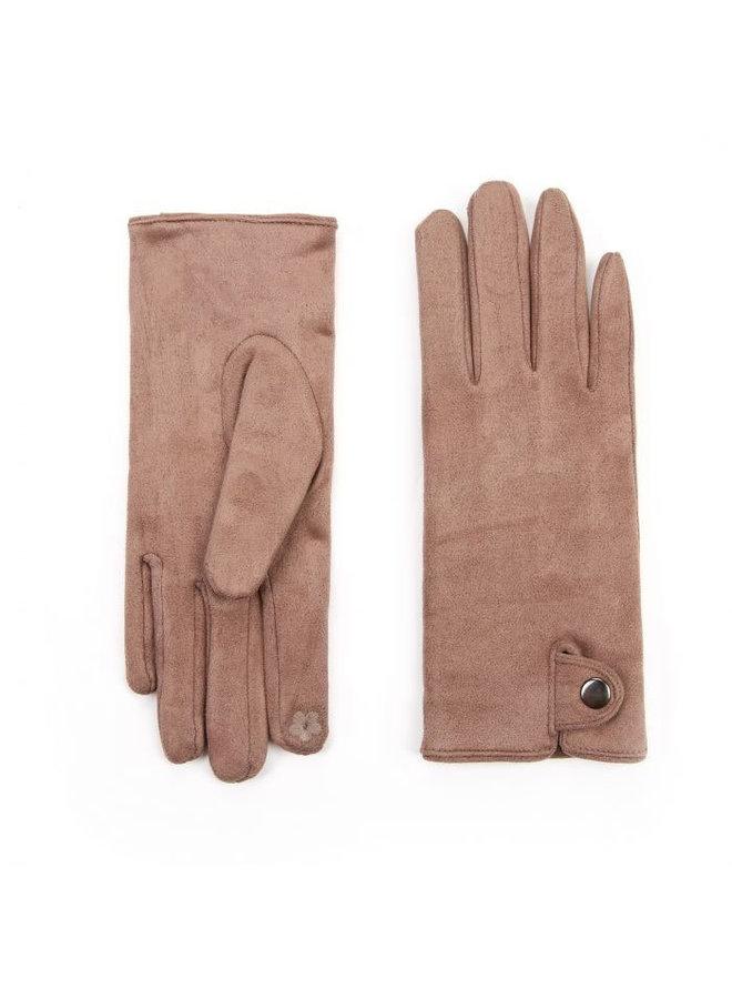 Denise suèdine handschoenen - Taupe