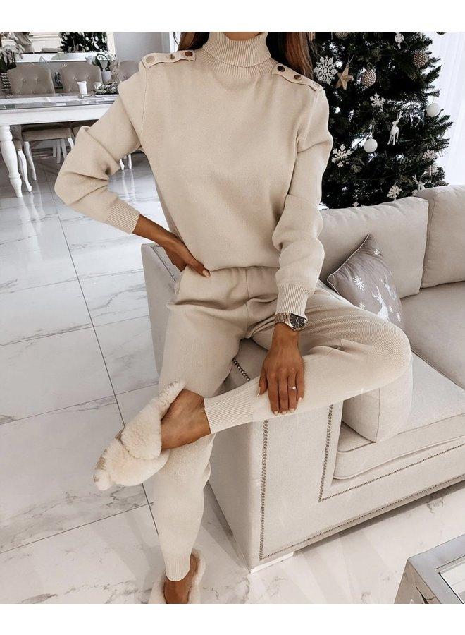 Claudia comfi  huispak set- beige