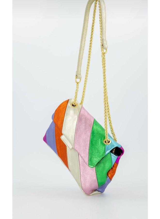 Metallic schoulder bag- rainbow
