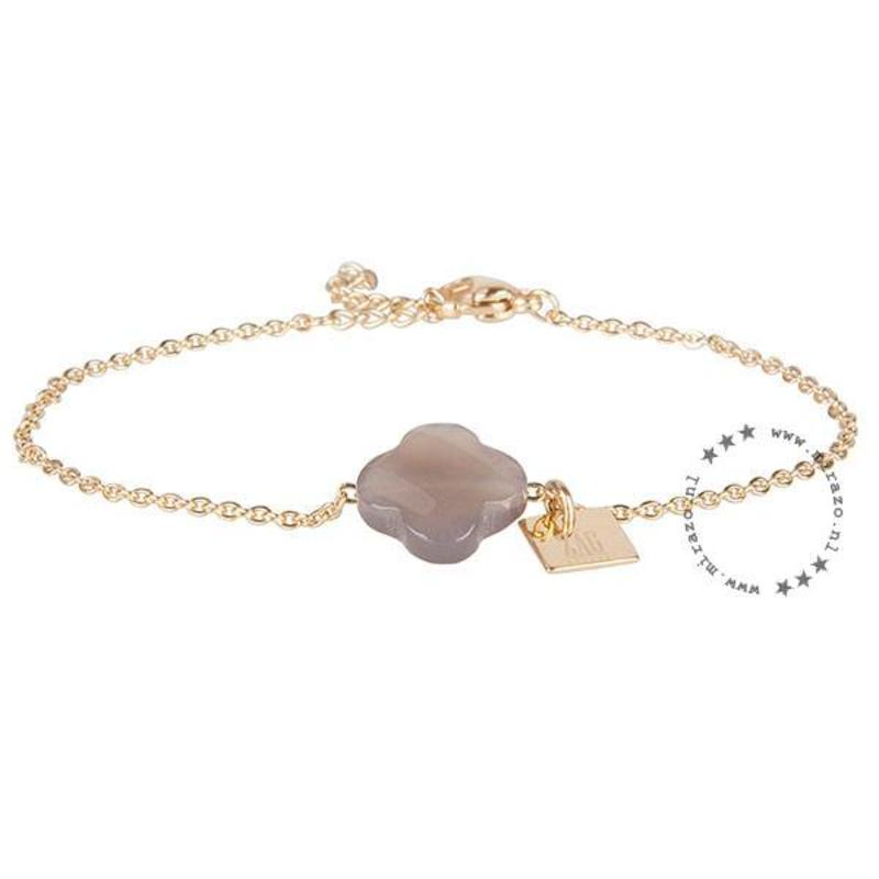 ZAG Bijoux jewellery  ZAG armband klaver grijs goud