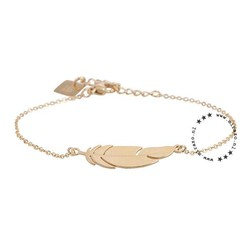 ZAG Bijoux jewellery  ZAG armband goud feather veertje
