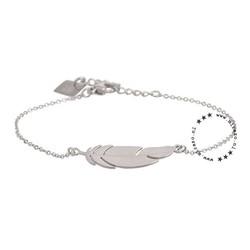 ZAG Bijoux jewellery  ZAG armband zilver feather veertje