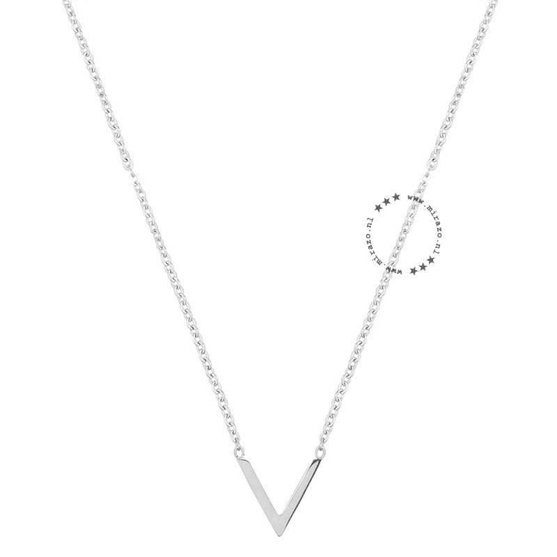 ZAG Bijoux jewellery  ZAG ketting V zilver