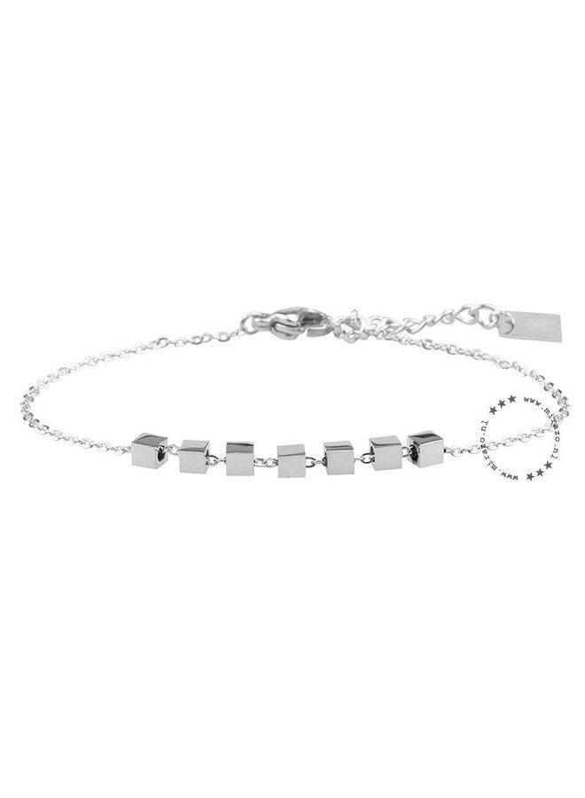 ZAG armband cubes zilver