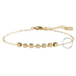 ZAG Bijoux jewellery  ZAG armband cubes goud