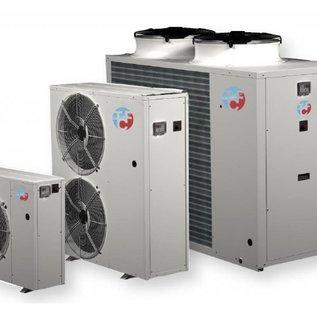 Enfriadora de aire-agua para la instalación en el exterior