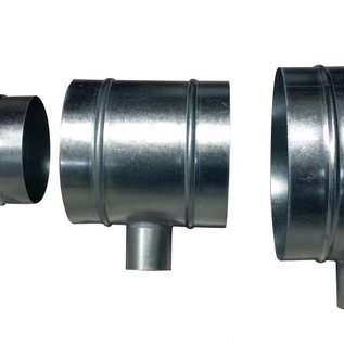 DimLux T-piece 125mm-50mm-125mm