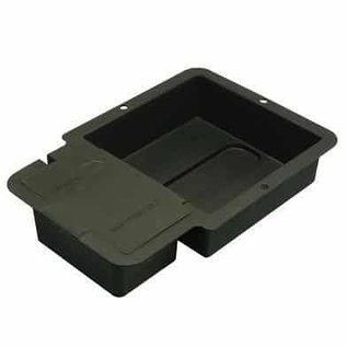 1 Pot Tray and Lid Black (square)