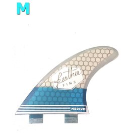 Feather Fins Feather fins - Ultralight Medium Dual Tab blue & white