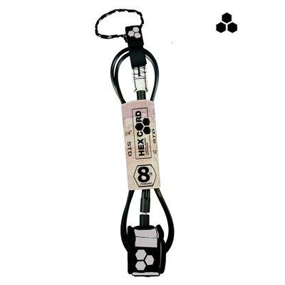 CI - 8' Hex Standard Leash - silver cuff