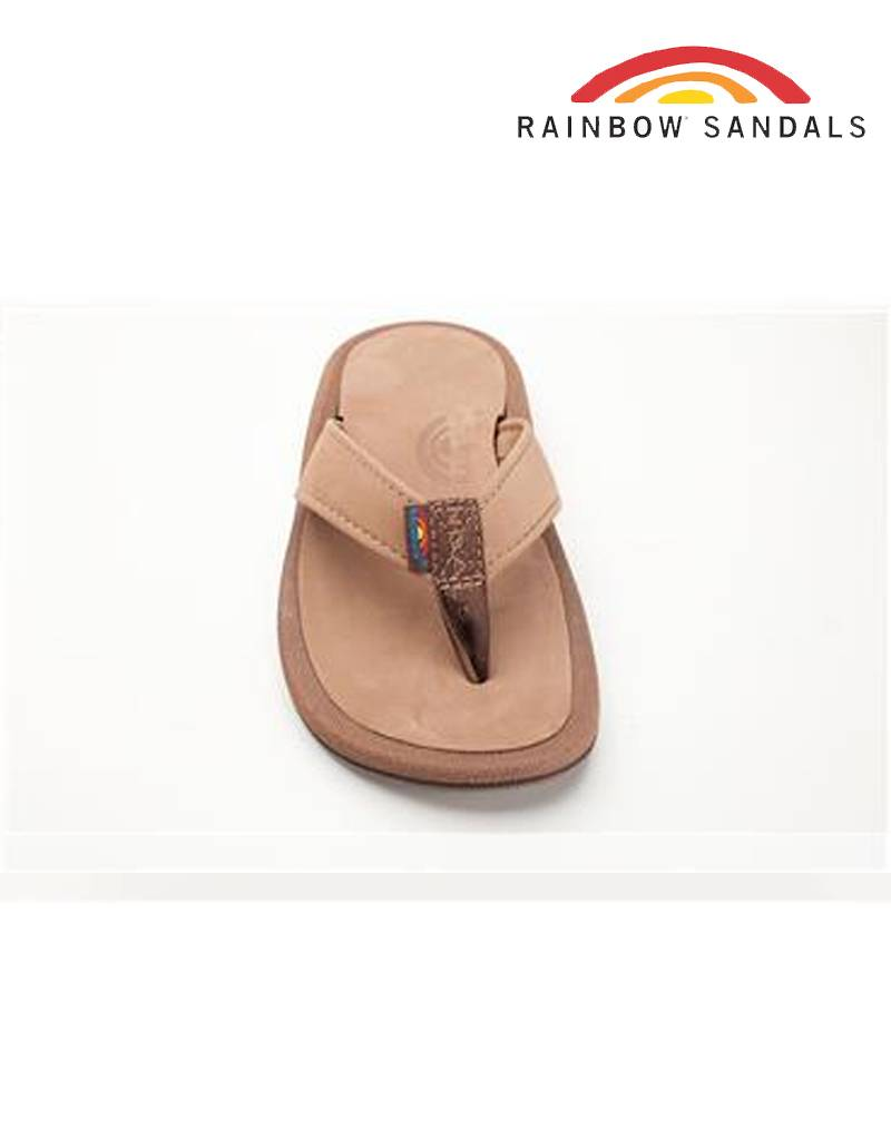 f46d88a6a84 Rainbow Sandals Navigator - Dark Brown Orthopedic w arch Leather Top  Tapered Strap