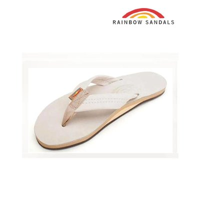 Rainbow Sandals  - Single Layer Premier Leather  Sand