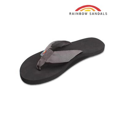 Rainbow Sandals - The Cloud - Soft Rubber Top Black Polyester Strap