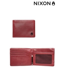 Nixon NIXON Escape Bi-fold Clip  Wallet Red Perf