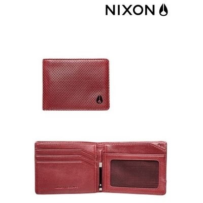 NIXON Escape Bi-fold Clip  Wallet Red Perf