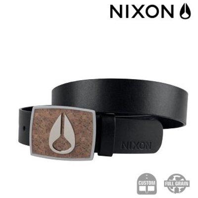 NIXON Enamal Icon Belt Cork / black