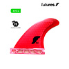 Future Fins Future - FSG1 Honeycomb Red