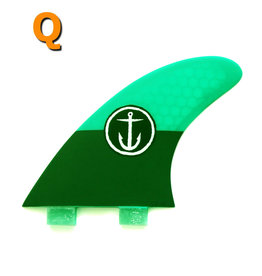 Captain Fin Co. Captain Fin -  QUAD MEDIUM -   FCS -  green