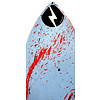 Zap ZAP- Wedge L  49  -  Blue & Red Splash  Blem