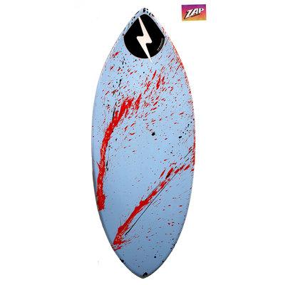 ZAP- Wedge L  49  -  Blue & Red Splash  Blem