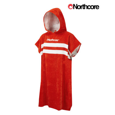Northcore - Beach Basha Changing Robe - Red Stripey
