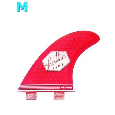 Feather fins - Ultralight pink Dual Tab medium