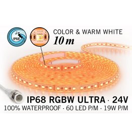 AppLamp IP68 Waterdichte RGBW ULTRA Ledstrip met 600 RGBW ULTRA Led's 24 Volt, 10 m