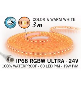 AppLamp IP68 Waterdichte RGBW ULTRA Ledstrip met 180 RGBW ULTRA Led's 24 V, 3 m