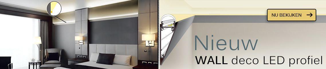 WALL decoratief aluminium muur LED profiel