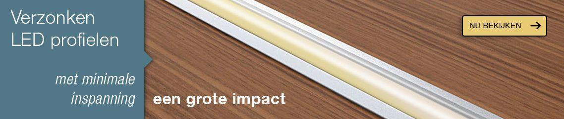 Verzonken aluminium LED profielen