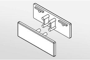 Eindkapjes AMBI, Set van twee, met of zonder kabelgat