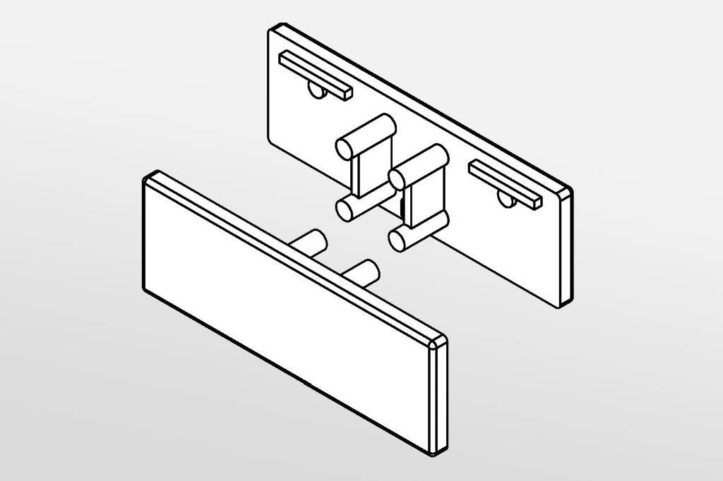 Eindkapjes voor LEDprofiel AMBI Set van twee, met of zonder kabelgat