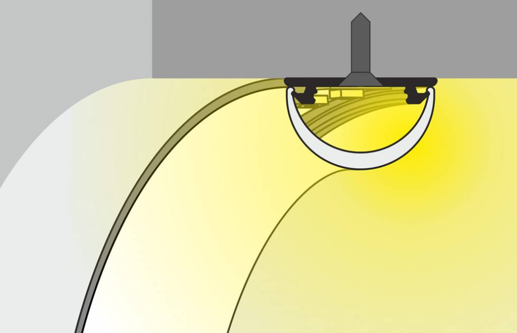 BEND buigbaar aluminium LED profiel 1m-2m