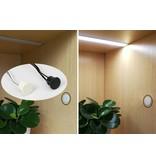 Ronde Inbouw Touch aanraak LED dimmer Wit - 12 tot 24V, 4A