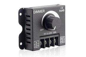 Hoog vermogen LED dimmer met draaiknop ,12V-24V 30A