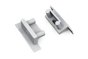 Eindkapjes Lumo RS., Rechthoekig, Set van twee