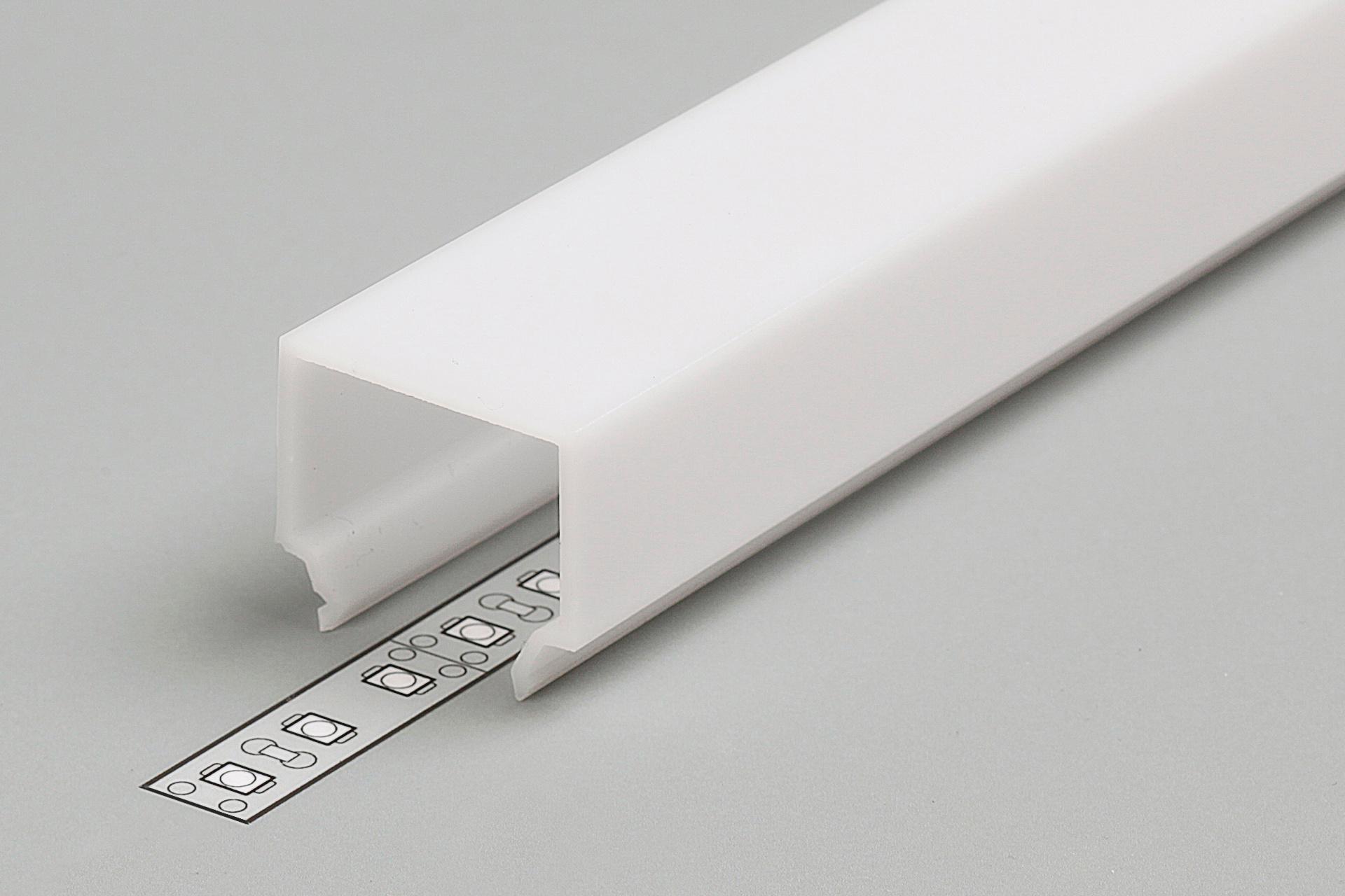 Cover E7 melkwitte kap in 1m of 2m lengte voor NOVA en ANGLE14