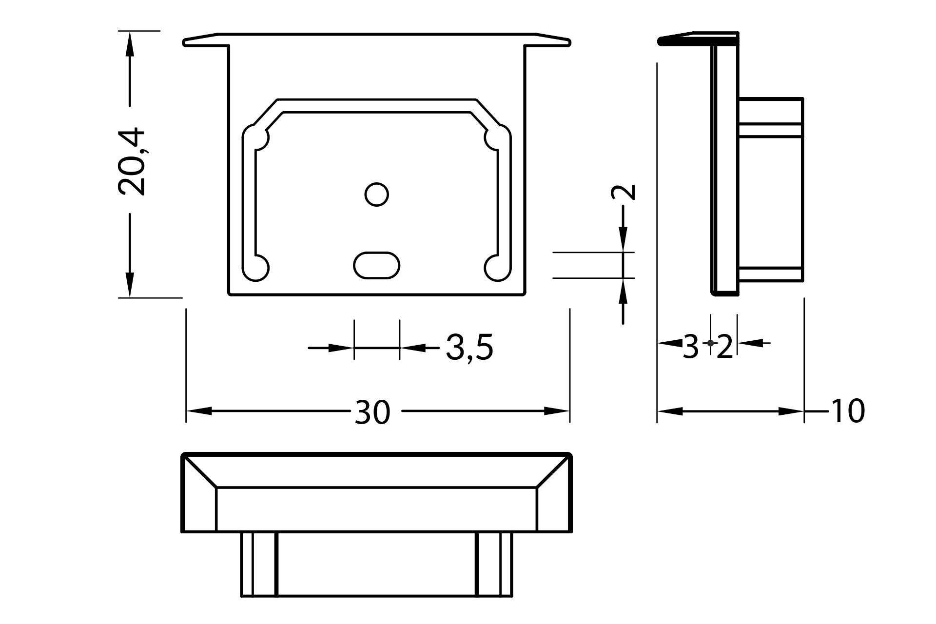 Eindkapjes voor LED profiel NOVA20 RS, Set van twee