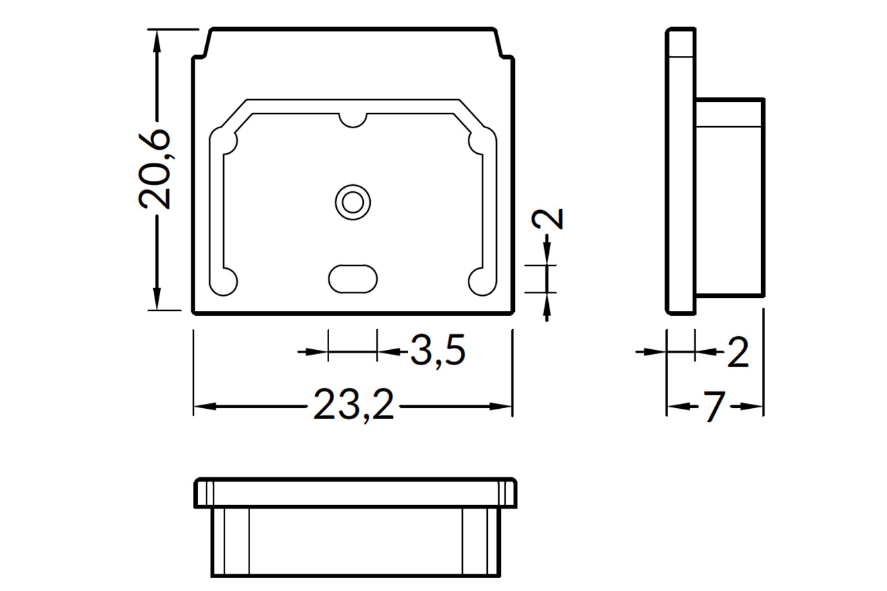 Eindkapjes voor LED profiel NOVA TS, Set van twee