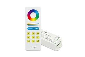 MiLight RF RGB Kleur+Dual White (CT) 1-zone Controller *Nieuw* met RF afstandsbediening 5x6A