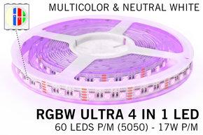AppLamp RGBW+Neutraal Wit ULTRA LEDstrip | 60-84Led p.m. | 12V-24V
