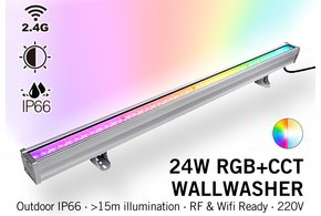 MiLight Milight Wall Washer RGB+Dual White - IP65 - 24Watt - 220Volt - 100CM