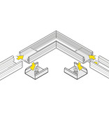 Hoek koppelstuk 90° voor Contour LED profiel