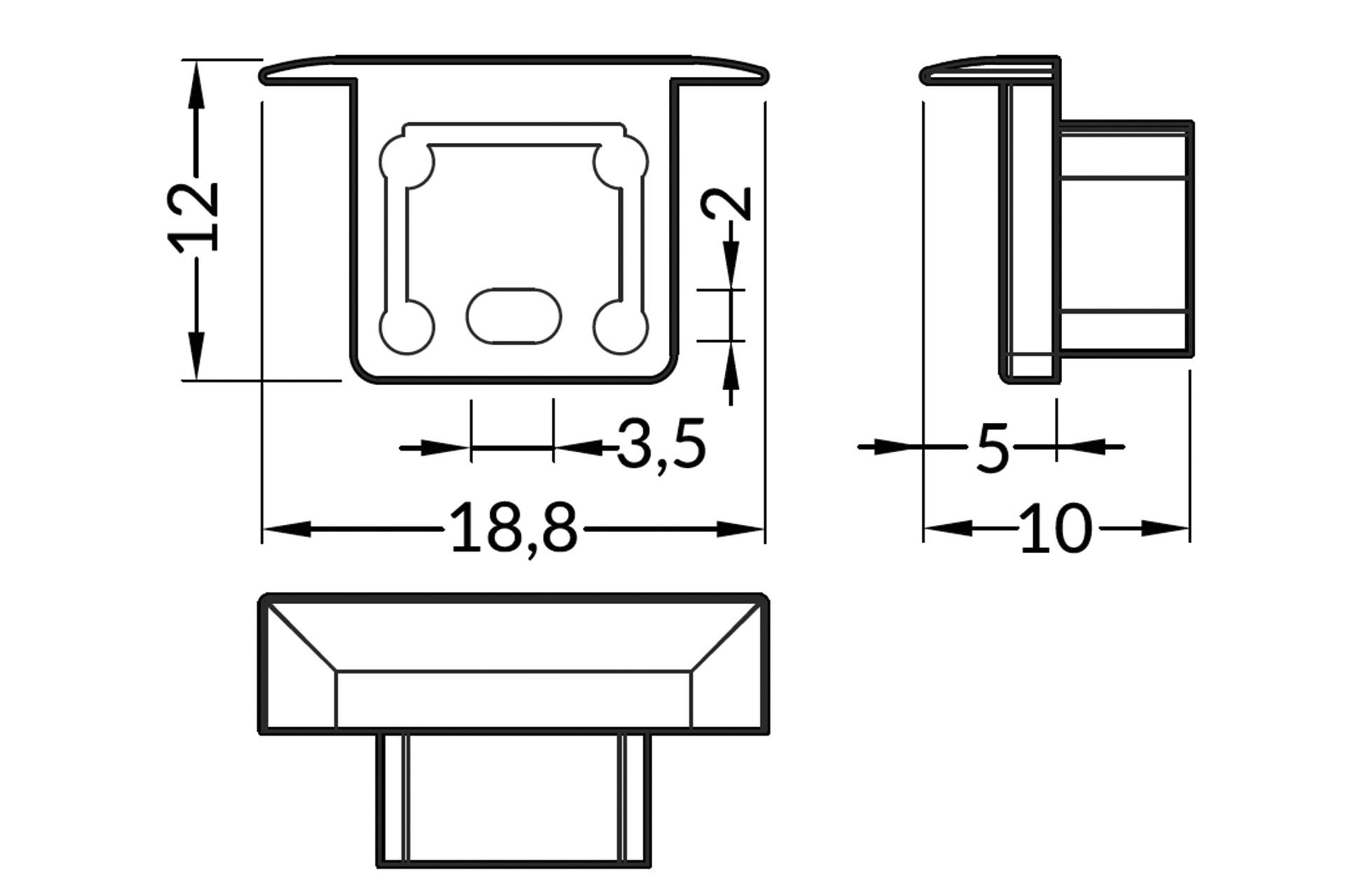 Eindkapjes NOVA10 RS , Set van twee stuks