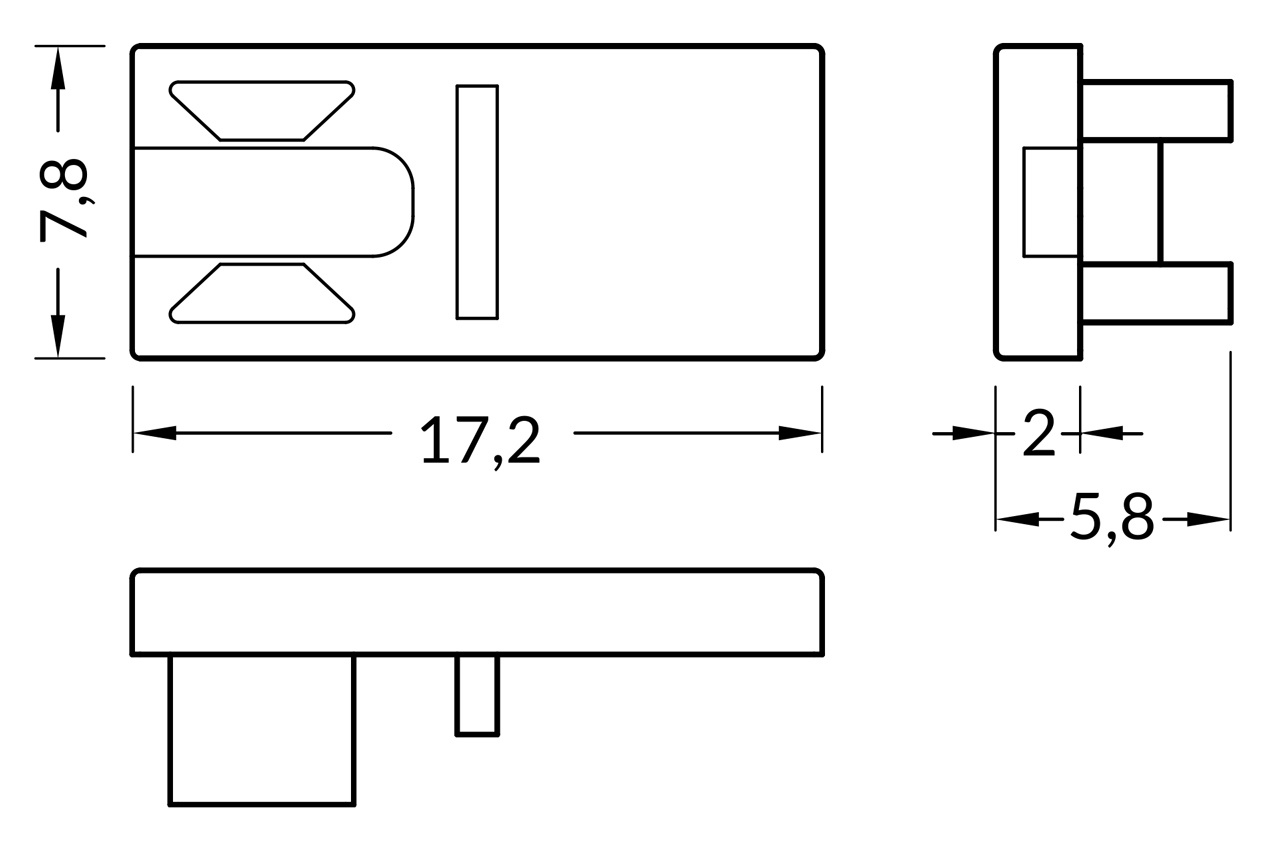Eindkapjes PICO , Set van twee stuks